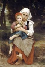 Breton Brother and Sister - William Adolphe Bouguereau