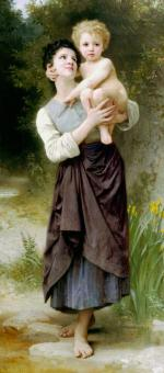 Brother And Sister - William Adolphe Bouguereau
