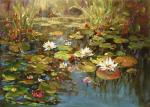 Flower Pond 2 - Decorative Classic Landscapes