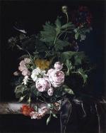 Flower Still Life - White - Willem van Aelst