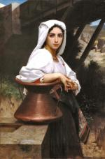 Italian Girl Drawing Water - William Adolphe Bouguereau