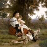 Rest-square - William Adolphe Bouguereau