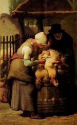 Sheering Sheep - Jean François Millet