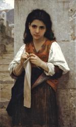 The Little Knitter - William Adolphe Bouguereau