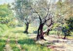 The Olive Grove - William Merritt Chase