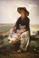 Young Shepherdess - Jean François Millet