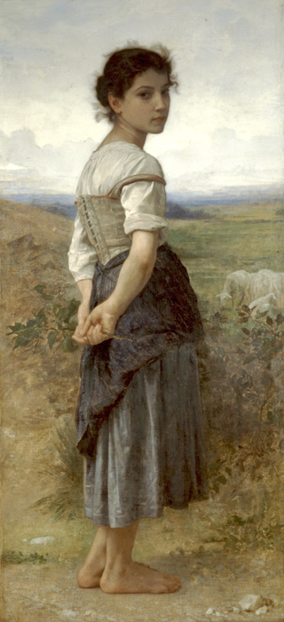 Young Shepherdess2 - William Adolphe Bouguereau