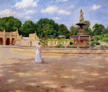 An Early Stroll in the Park - William Merritt Chase
