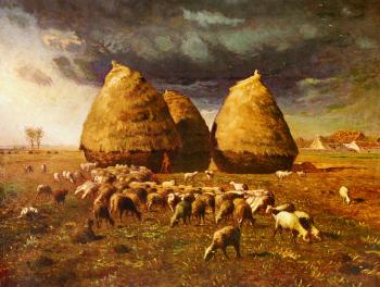Autumn Haystacks - Jean François Millet