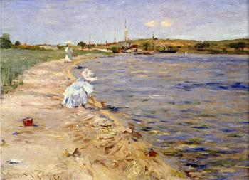 Beach Scene, Morning at Canoe Place - William Merritt Chase