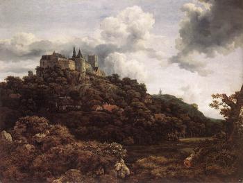 Bentheim Castle - Jacob Izaaksoon van Ruisdael