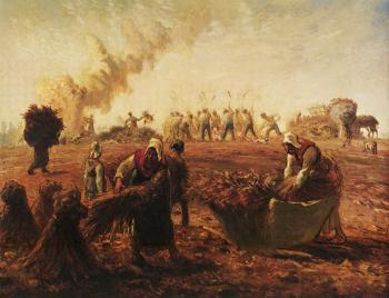Buckwheat Harvest - Jean François Millet