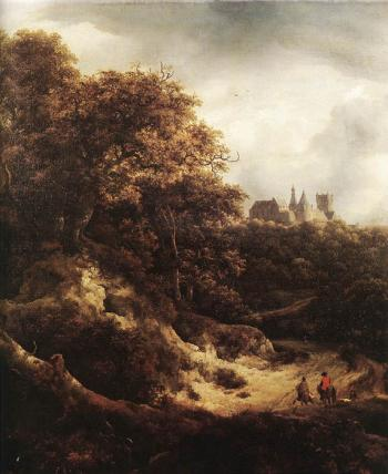 The Castle at Bentheim - Jacob Izaaksoon van Ruisdael