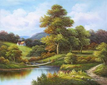 Distant house - Decorative Classic Landscapes