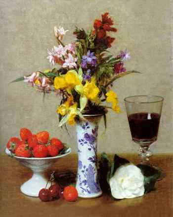Still Life (The Engagement) - Henri Fantin-Latour