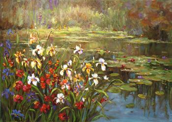 Flower Pond 1 - Decorative Classic Landscapes
