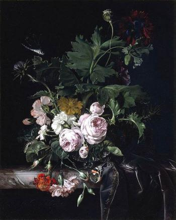 Flower Still Life - White - Willem van Aelst