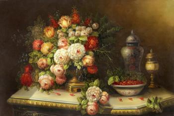 Flowers and berries - Decorative Classic Stilllives