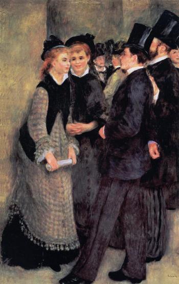 La Sortie du Conservatoire - Pierre-Auguste Renoir