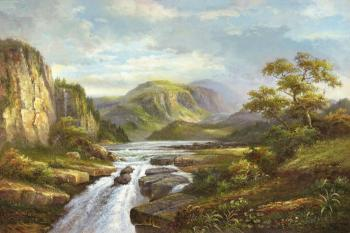 Mountain Stream - Decorative Classic Landscapes