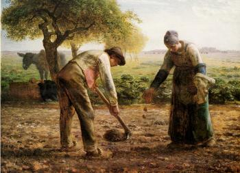 Potato Planters - Jean François Millet