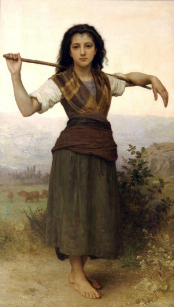 Shepherdess - William Adolphe Bouguereau