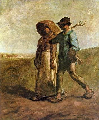 The Walk To Work - Jean François Millet