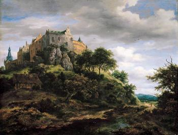 View of Bentheim Castle from the North-West - Jacob Izaaksoon van Ruisdael