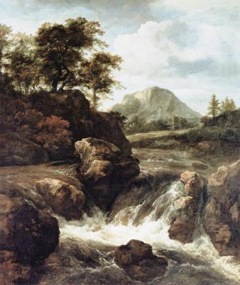 Waterfall View - Jacob Izaaksoon van Ruisdael
