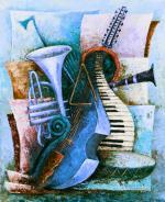 Viola d`Amore - blue