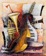 Viola d`Amore - monochrome