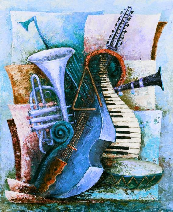 Viola d`Amore - blue - Vessela