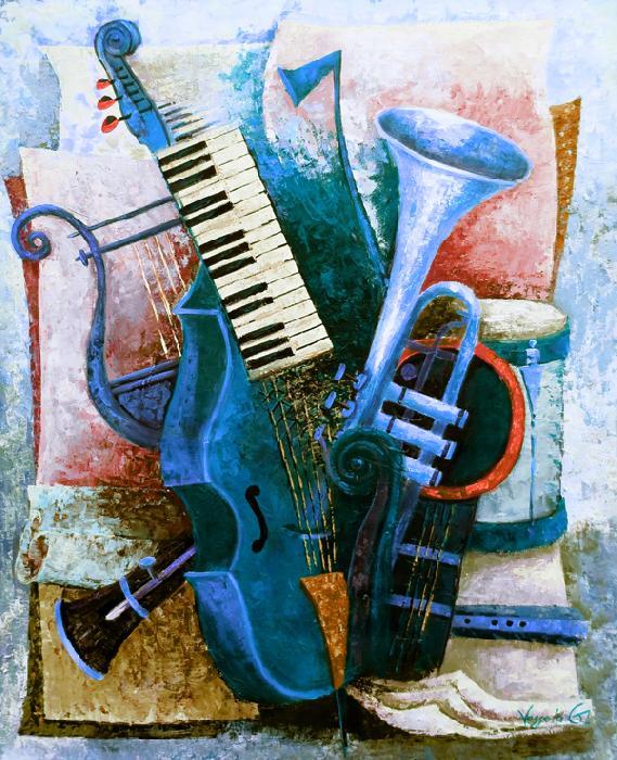 Viola Da Gamba - blue - Vessela