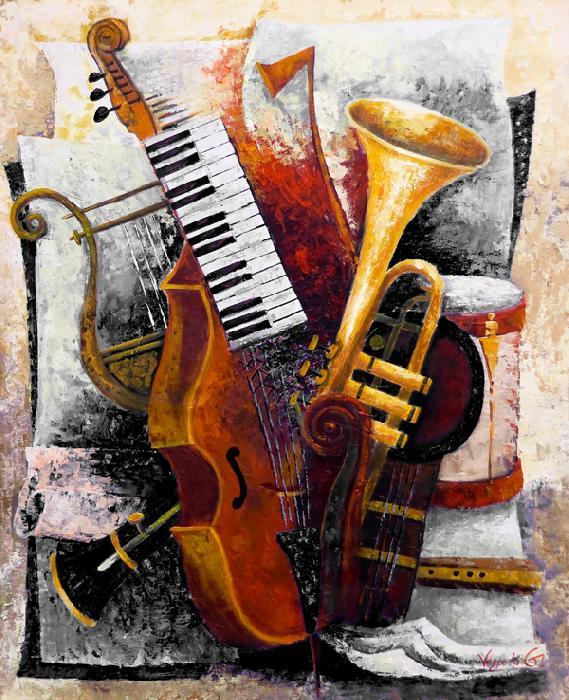 Viola Da Gamba - monochrome - Vessela