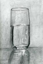 Drawing /Painting of a Glass of Water (Part 1)- Tips for Charcoal and Pencil Drawing