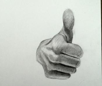 Thumbs Up: Step by Step How to Draw The Hand - Merrill Kazanjian