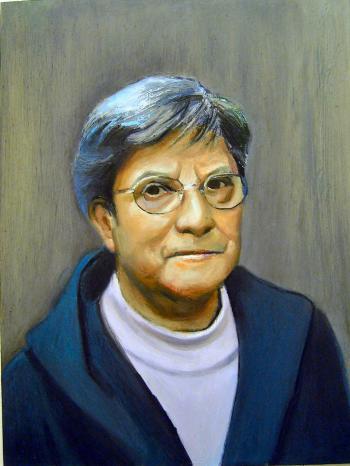 Oil Paint Portrait of Mima - Merrill Kazanjian