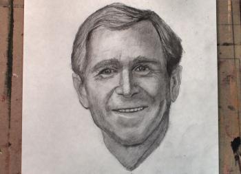 How to Draw George W. Bush Step by Step - Merrill Kazanjian
