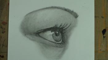 How to Draw the Female Eye From a Side Profile Perspective - Merrill Kazanjian
