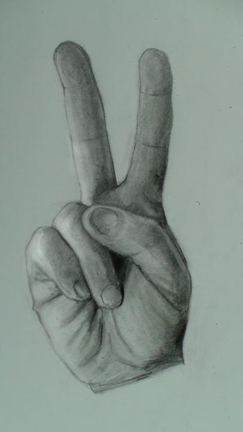 How to Draw the Hand Step by Step- (Peace Sign) - Merrill Kazanjian
