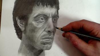 Draw Scarface (Tony Montana) Step by Step - Merrill Kazanjian
