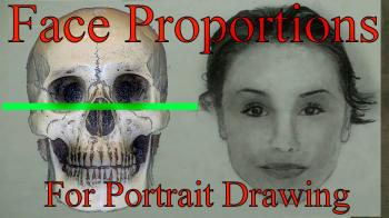 Proportions of the Human Head/Face For Portrait Drawing Part 1 - Merrill Kazanjian
