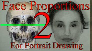 Proportions of the Human Head/Face For Portrait Drawing Part 2 - Merrill Kazanjian
