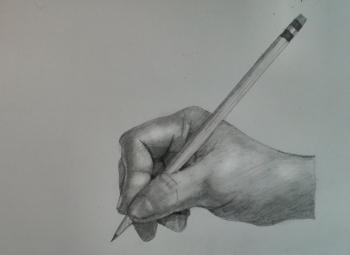 Draw the Hand Holding a Pencil Step by Step - Merrill Kazanjian