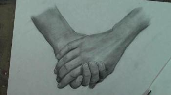 How to Draw a Couple Holding Hands - Merrill Kazanjian