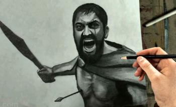 How to Draw Leonidas from 300 Step by Step - Merrill Kazanjian
