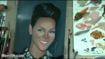 Celebrity Portraits- Rihanna - Merrill Kazanjian