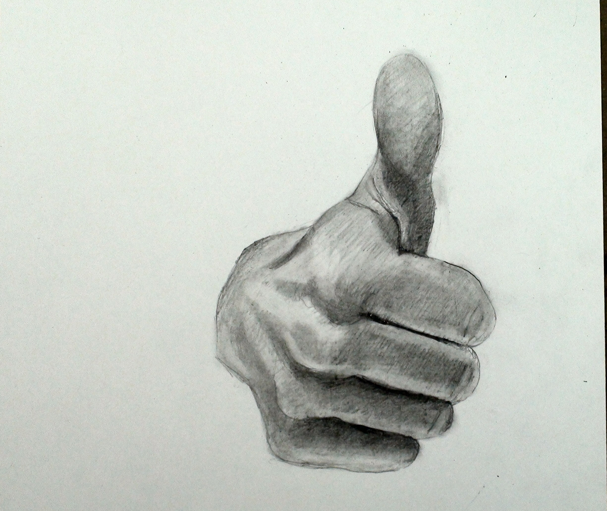 How to Draw a Hand Thumbs Up Gesture Finished