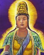 Kwan Yin with Blue Sash
