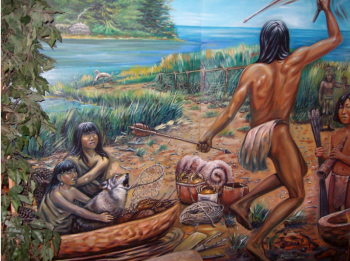 Archaic Period Mural, detail, Shinnecock Nation Museum - David Martine